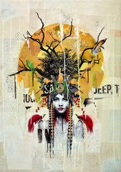 Maiden of the Forest by Matt Herring - Original sized 33x47 inches. Available from Whitewall Galleries